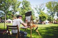 Aaron Shiflet of Fulton Street Arts Cooperative paints en plein air! Photo: Ali & Paul Co.